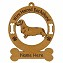 3042  Dachshund Wire Standing Ornament Personalized with Your Dog's Name